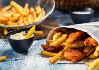 Seaside fish and chips