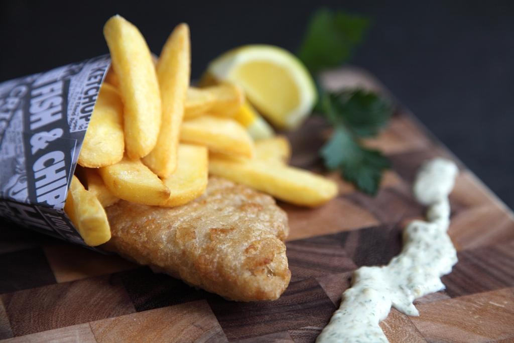 Et voilà - seaside fish and chips!