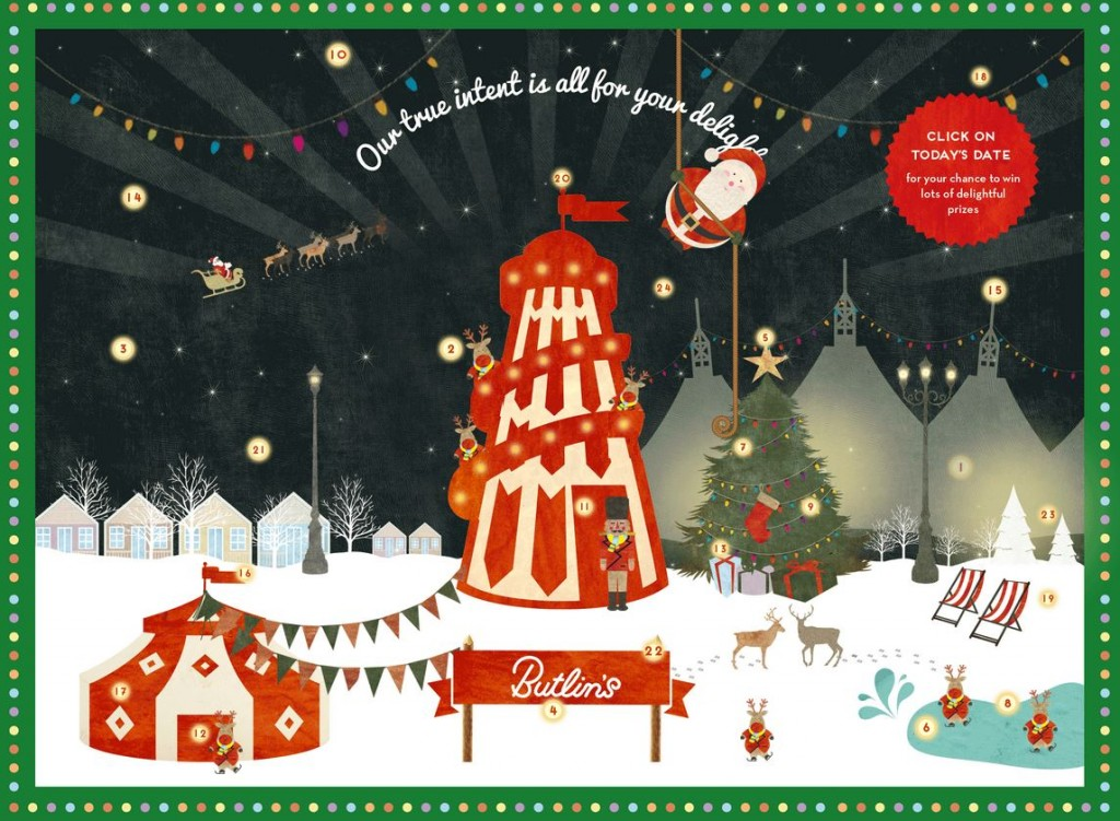 Butlins Advent Calendar 2014
