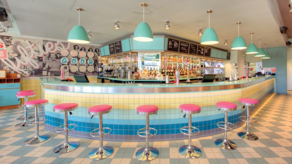 Butlins brand new 1950s Diner