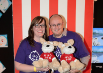 Andrew & Alicia volunteering at the Great Ormond Street Christmas Party