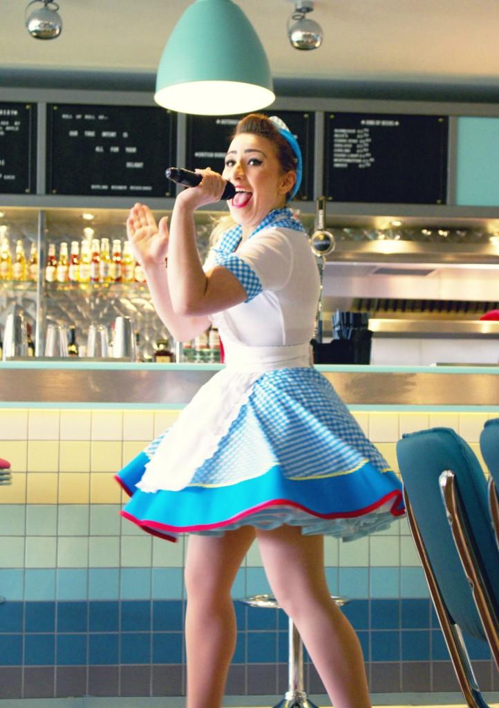 Singing waitresses at The Diner (Bognor Regis shown)