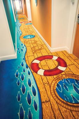 Shoreline Hotel Corridor