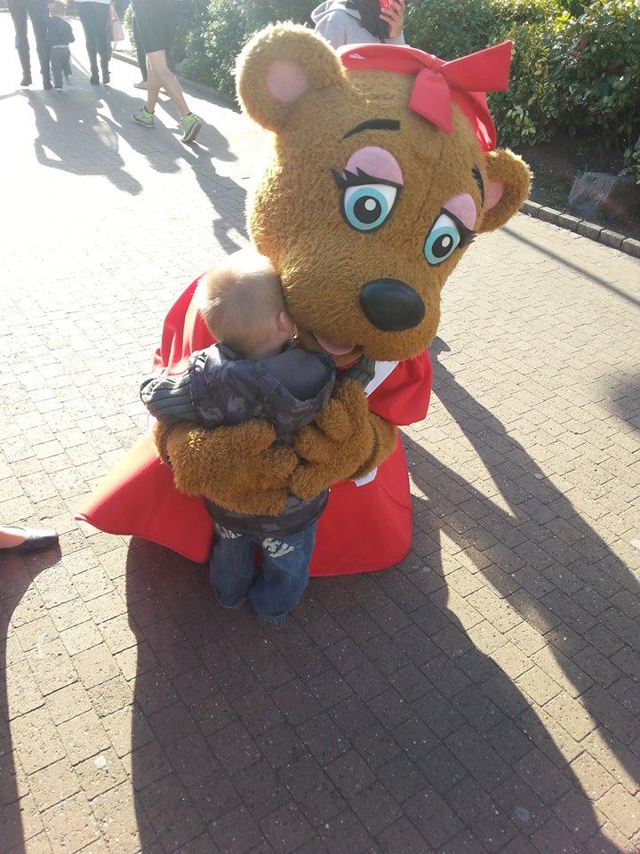 Charlie with Bonnie Bear
