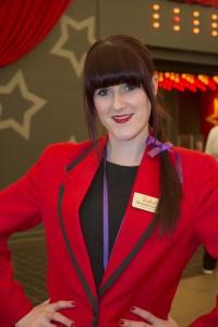 Redcoat Michaela wears purple for Great Ormond Street Hospital Charity