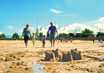Sandcastles on Minehead beach