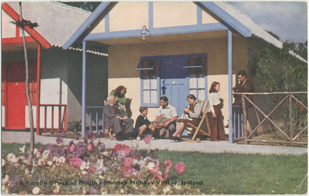 Butlin's Mosney Holiday Village chalet postcard
