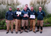 Ground and Maintenance team with Gold award