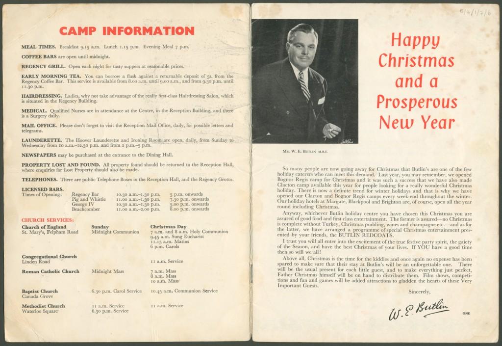 Christmas brochure 1962