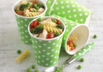 Chicken, Broccoli, Pea and Tomato Pasta