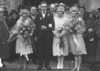Billy Butlin on wedding day to Dolly, March 1927