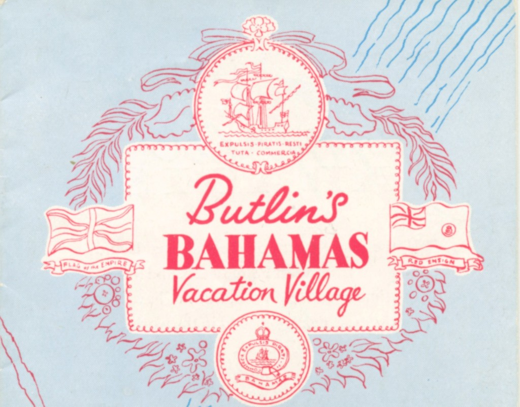 Butlin's Bahamas Brochure cover 1950