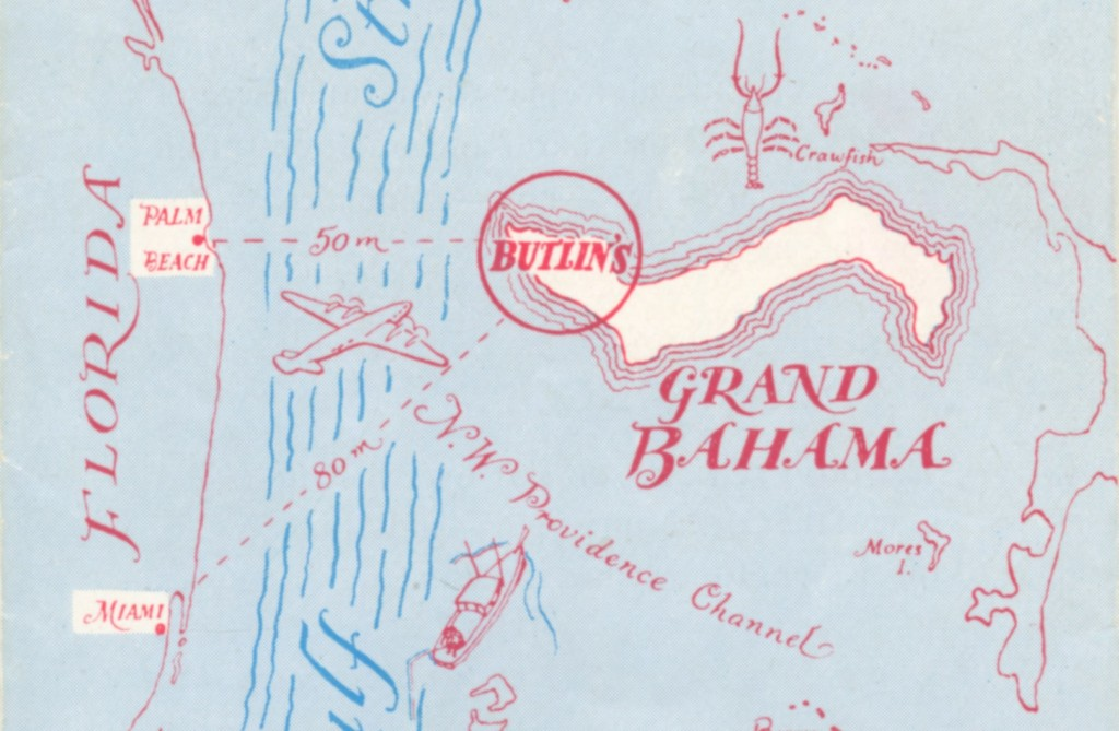 Butlin's Bahama brochure cover