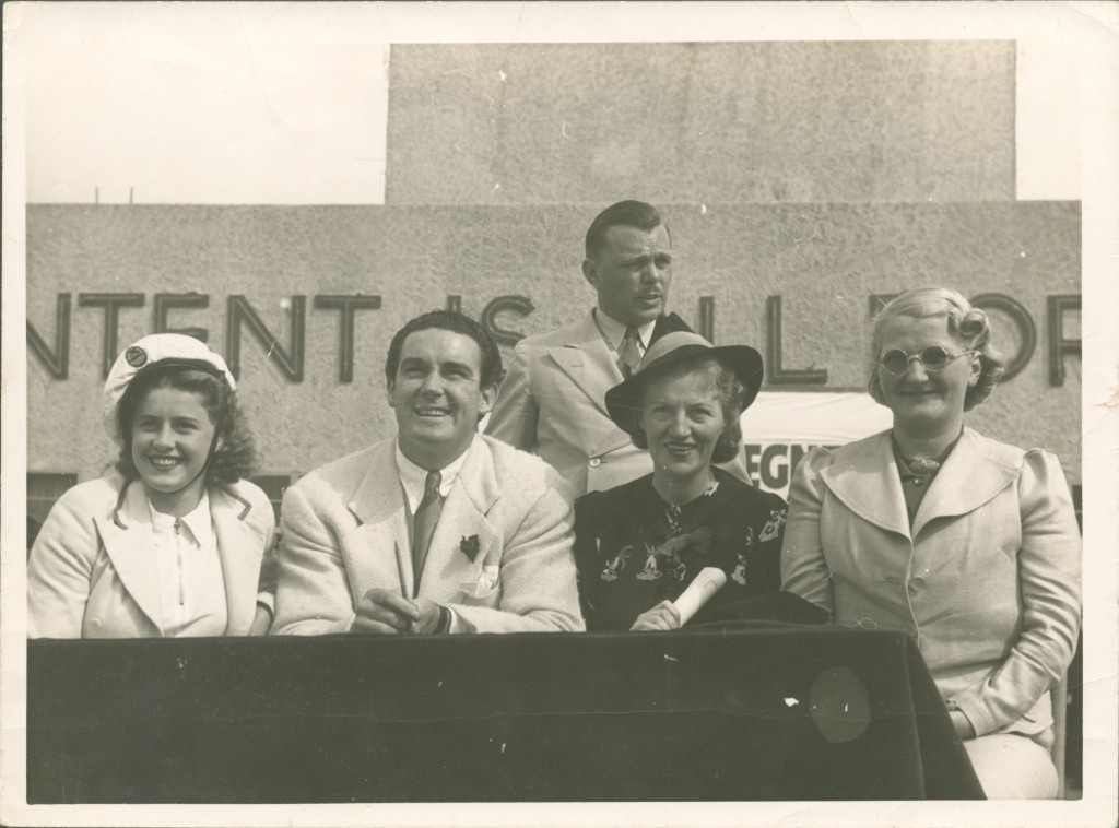 Gracie Fields, Jack Doyle and Billy Butlin, 1938.
