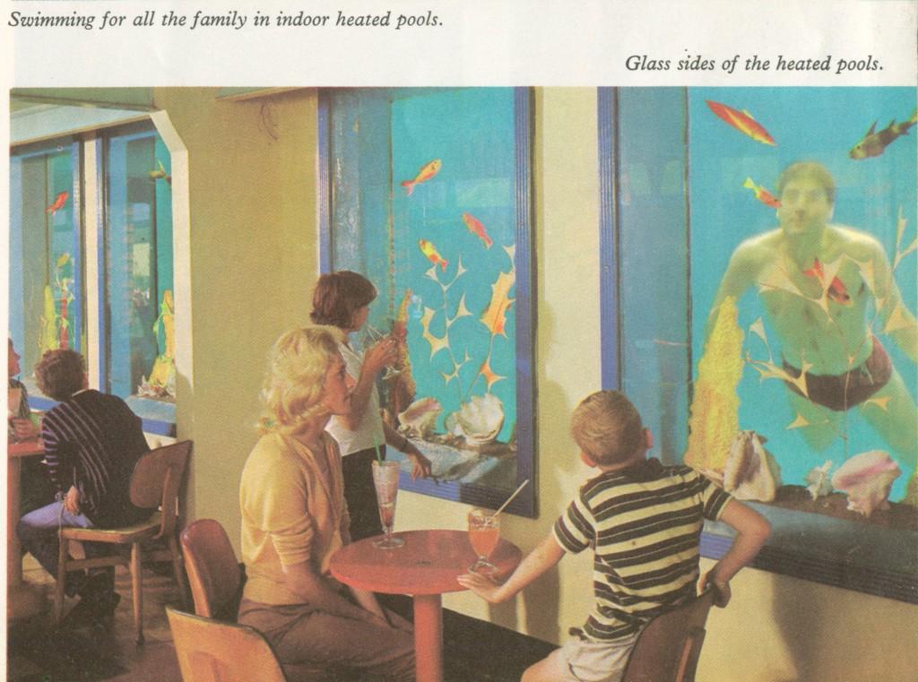 Minehead's pool with underwater windows