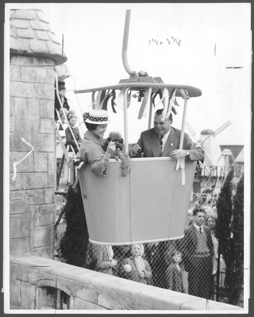 Billy Butlin and Miss Eve Boswell opening Chairlift