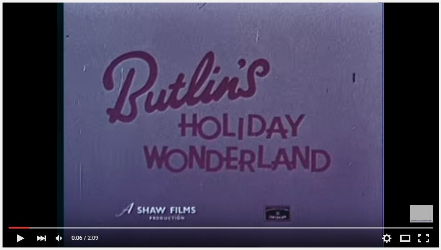 Butlin's TV Ad from the 1950's
