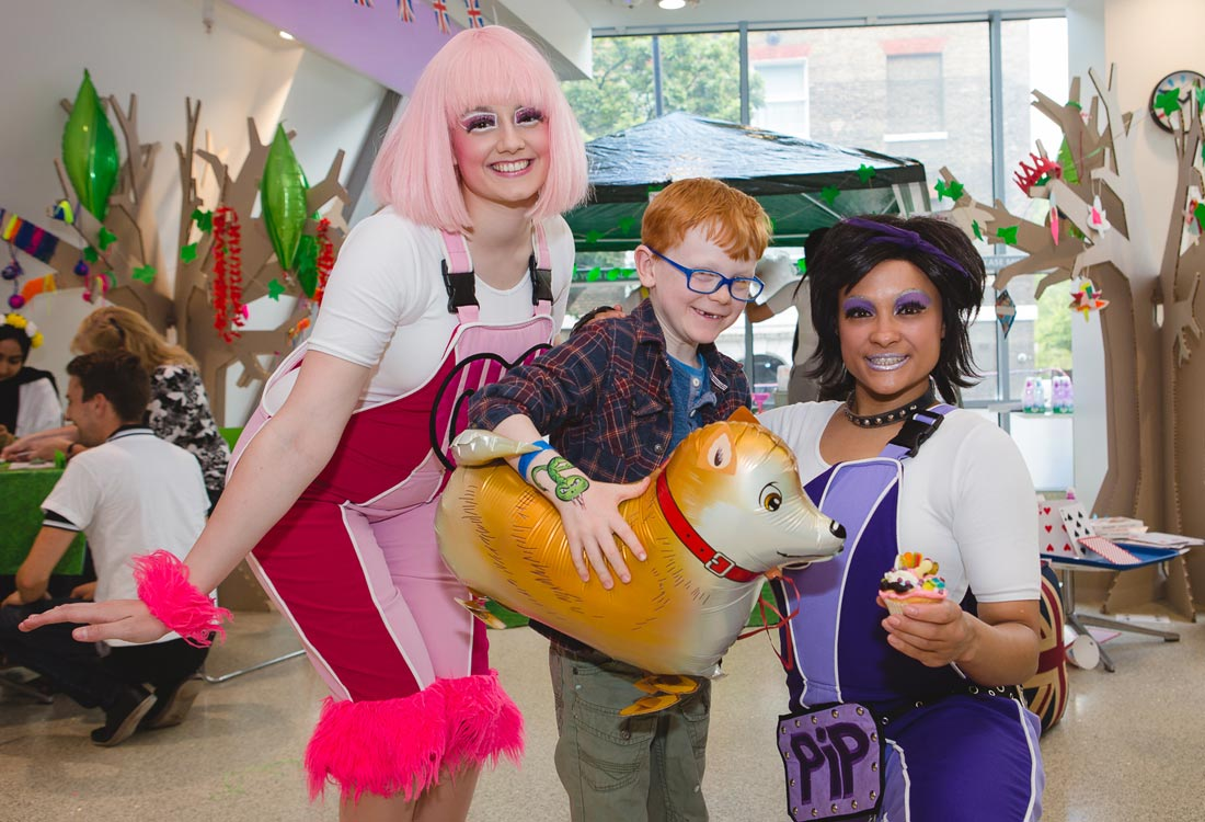 Butlins Skyline Gang Candi & Pip with Great Ormond Street Hospital patient