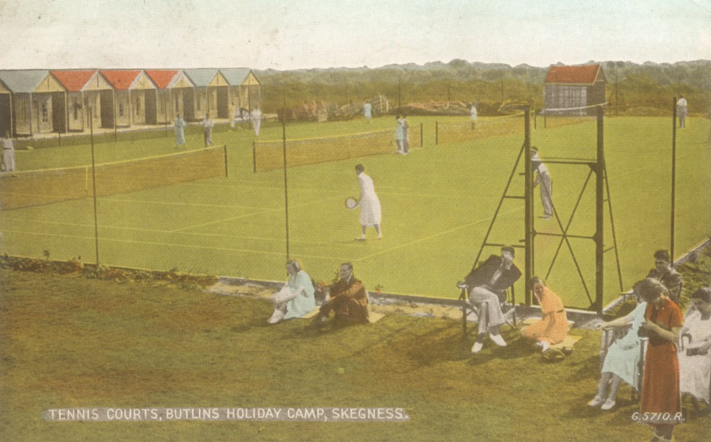 Tennis courts at Butlins Skegness, 1949