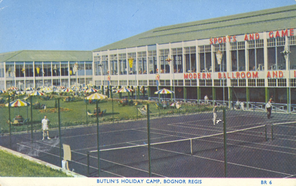 Tennis courts at Butlins Bognor Regis, 1961
