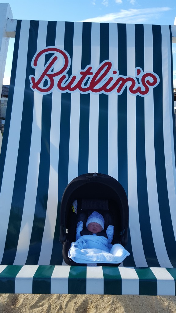 Baby Willow born at Butlins by parents Ross and Nicola
