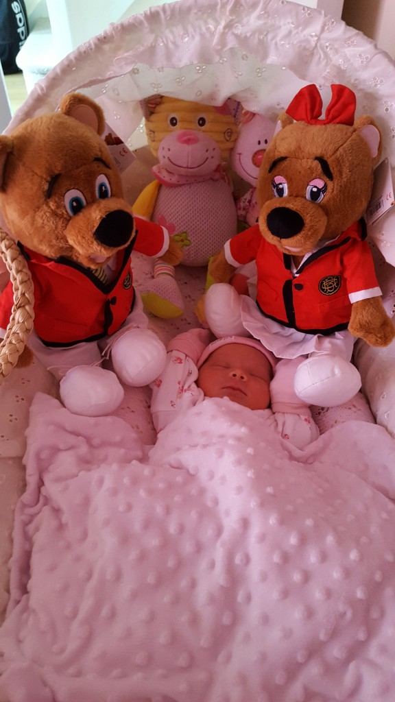 Baby Willow born at Butlin's by parents Ross and Nicola