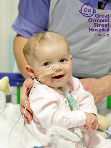 Patient at Great Ormond Street Hospital Charity