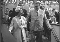 The Queen visits Butlin's Pwllheli, 9th August 1963.