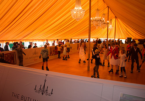 The Butlins Ballroom roller rink at Goodwood Revival