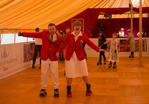 Butlins Redcoats at the Butlins Roller Disco, Goodwood Revival