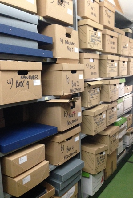 Butlins Archive storage boxes