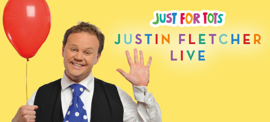 Justin Fletcher at selected Just For Tots breaks in 2017