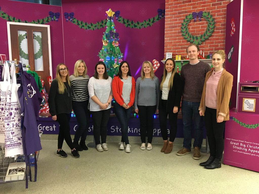 The Butlin's team at the GOSH Great Big Stocking Appeal