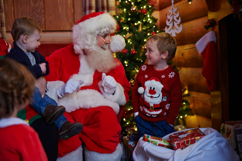 Santa at Father Christmas's Winter Grotto at Butlins festive breaks