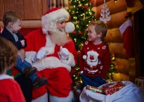 Father Christmas at Santas Grotto at Butlins festive breaks