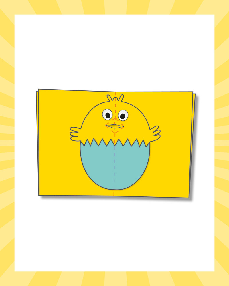 How to make an Easter chick card - step six | Butlins Blog