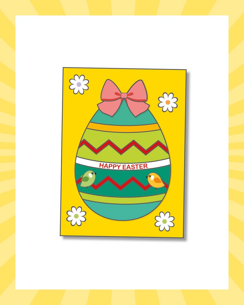 How to make an Easter chick card - step seven | Butlins Blog