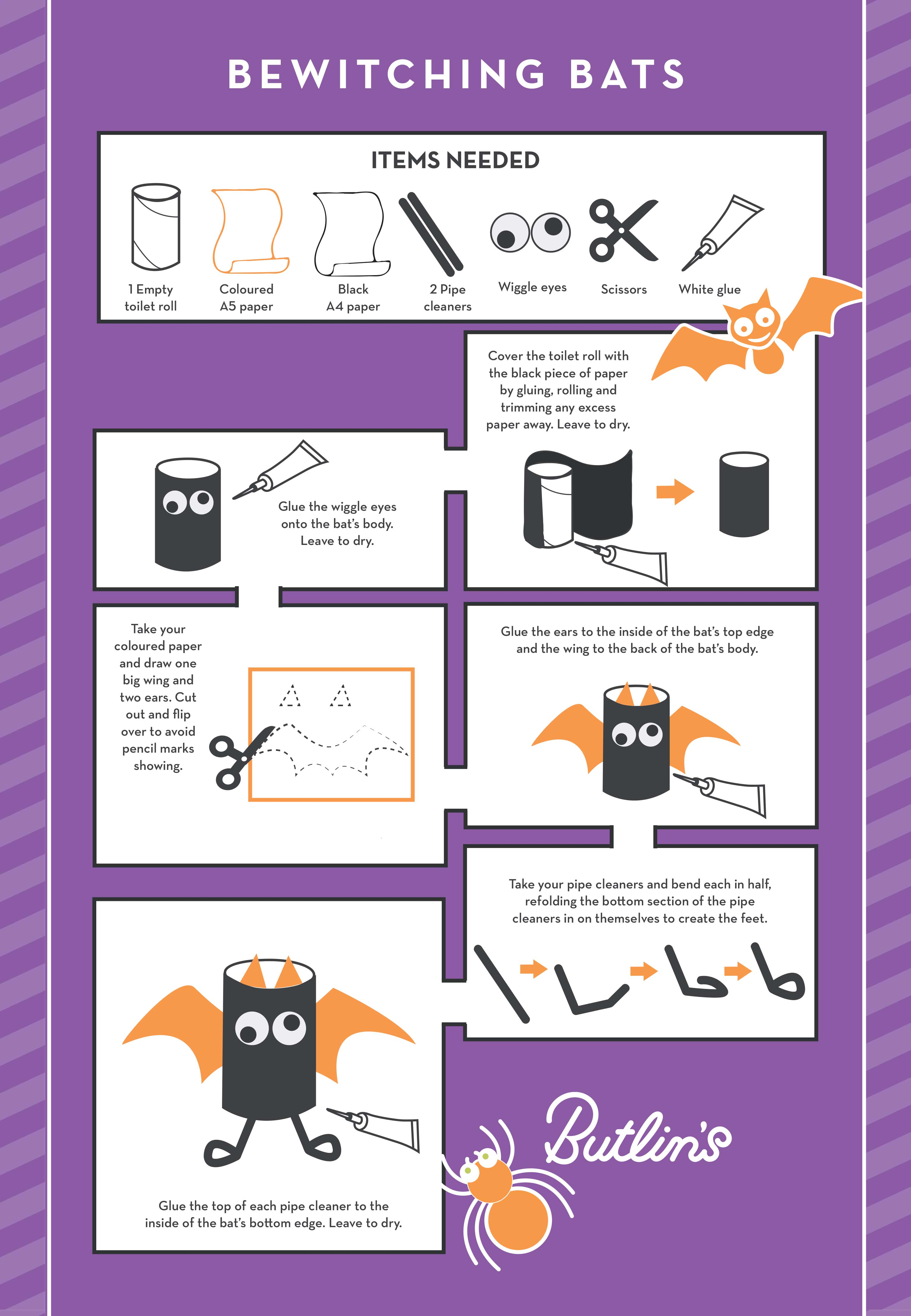 Butlins Blog | Halloween arts and crafts | bewitching bats