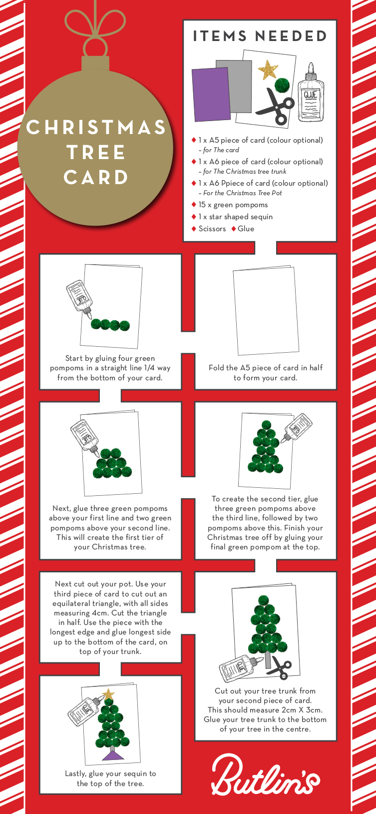Christmas Tree card | Christmas how to | Butlins Blog