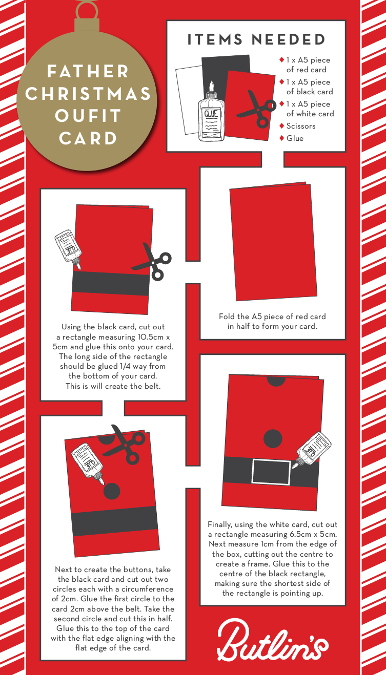 Father Christmas Outfit card | Christmas how to | Butlins Blog